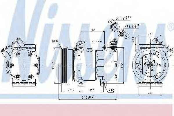 Компрессор кондиционера NISSENS 89064 - изображение