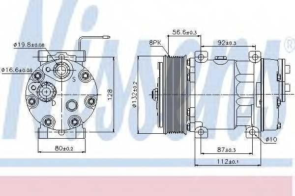 Компрессор кондиционера NISSENS 89065 - изображение