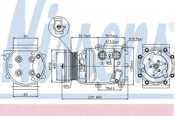 Компрессор кондиционера NISSENS 89071 - изображение