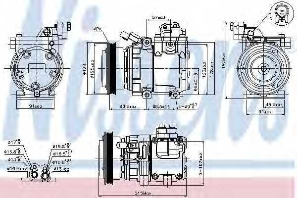 Компрессор кондиционера NISSENS 89082 - изображение