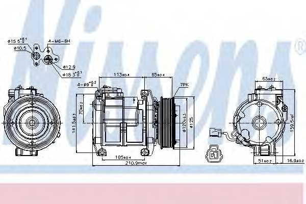 Компрессор кондиционера NISSENS 89084 - изображение