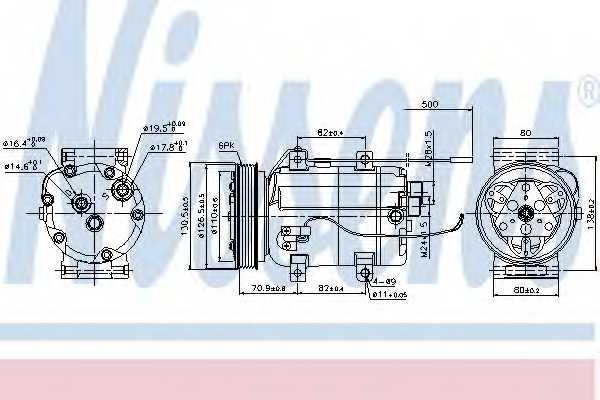 Компрессор кондиционера NISSENS 89101 - изображение