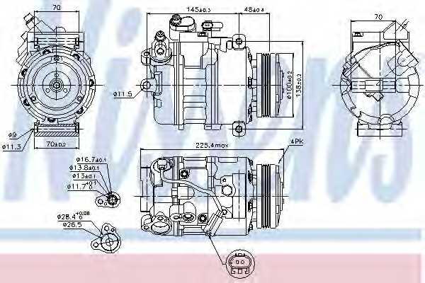 Компрессор кондиционера NISSENS 89116 - изображение