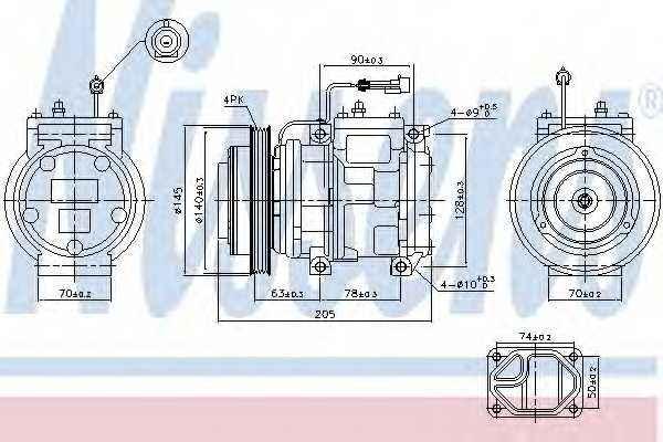 Компрессор кондиционера NISSENS 89119 - изображение