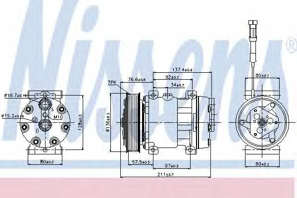 Компрессор кондиционера NISSENS 89137 - изображение