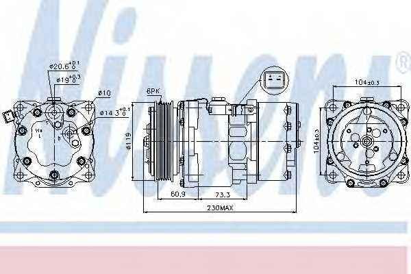 Компрессор кондиционера NISSENS 89195 - изображение