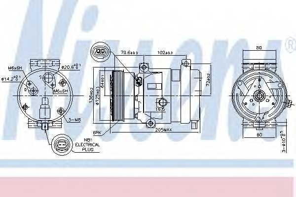Компрессор кондиционера NISSENS 89218 - изображение
