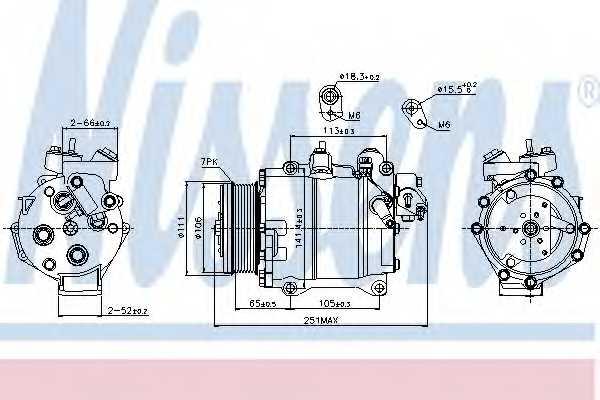 Компрессор кондиционера для HONDA CR(RE) <b>NISSENS 89245</b> - изображение