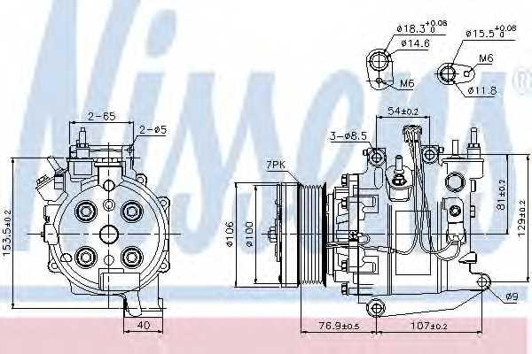 Компрессор кондиционера для HONDA CR(RE) <b>NISSENS 89247</b> - изображение