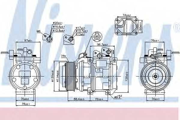 Компрессор кондиционера NISSENS 89301 - изображение