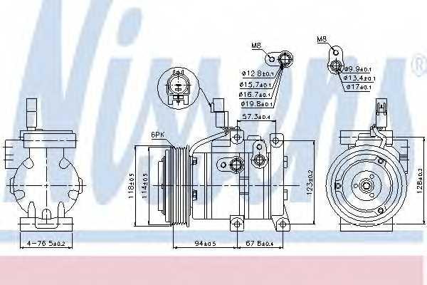 Компрессор кондиционера NISSENS 89533 - изображение