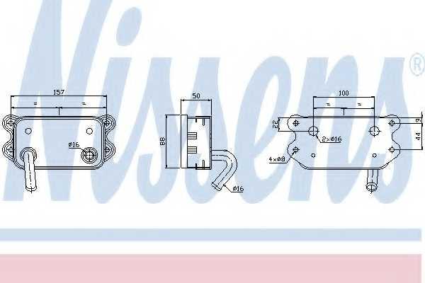 Масляный радиатор масла двигателя NISSENS 90580 - изображение