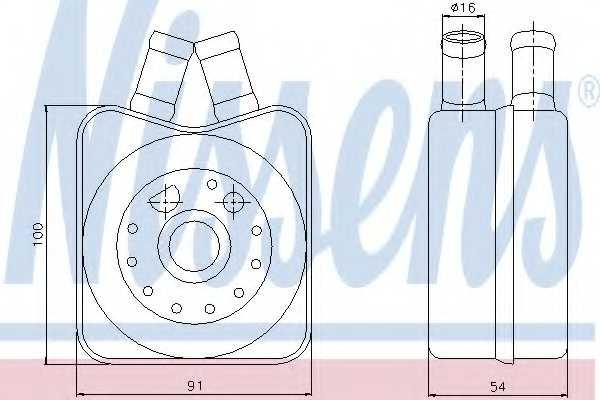 Масляный радиатор масла двигателя NISSENS 90606 - изображение