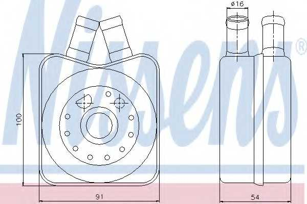 Масляный радиатор масла двигателя NISSENS 90607 - изображение