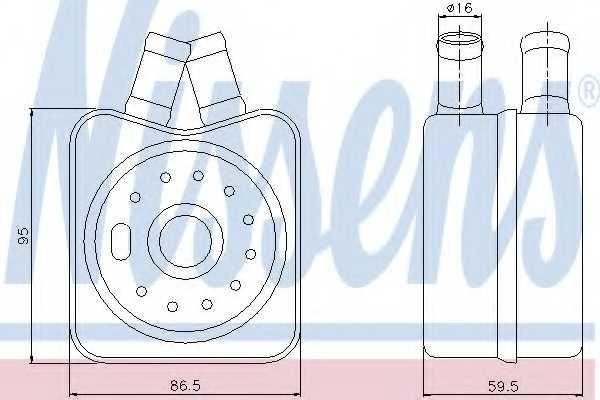 Масляный радиатор масла двигателя NISSENS 90608 - изображение