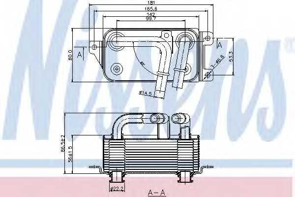 Масляный радиатор АКПП NISSENS 90623 - изображение