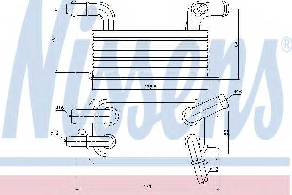 Масляный радиатор АКПП NISSENS 90642 - изображение