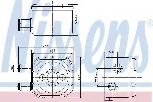 Масляный радиатор масла двигателя NISSENS 90652 - изображение