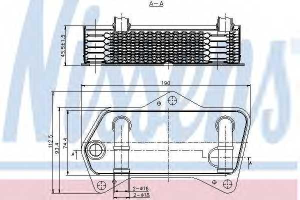 Масляный радиатор АКПП NISSENS 90653 - изображение