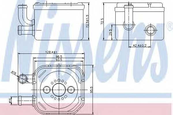 Масляный радиатор масла двигателя NISSENS 90654 - изображение
