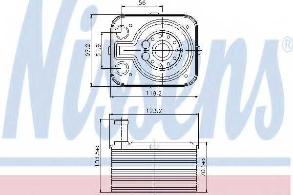 Масляный радиатор масла двигателя NISSENS 90655 - изображение