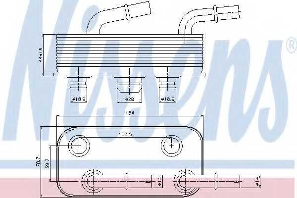 Масляный радиатор АКПП NISSENS 90657 - изображение