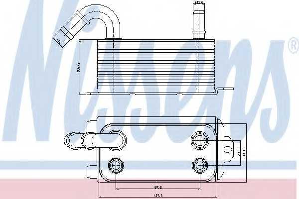Масляный радиатор АКПП NISSENS 90661 - изображение