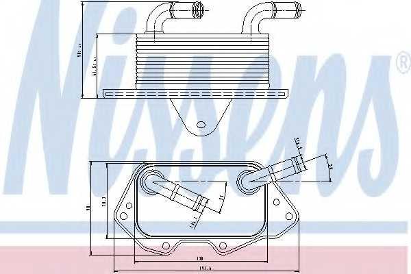 Масляный радиатор масла двигателя NISSENS 90662 - изображение