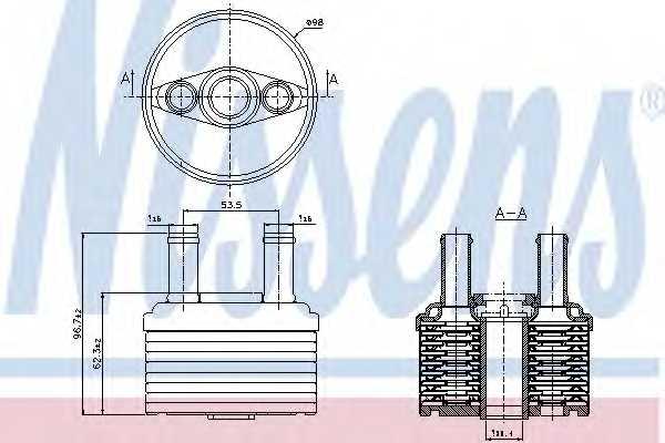 Масляный радиатор АКПП NISSENS 90664 - изображение