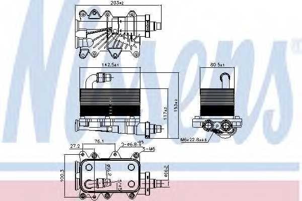 Масляный радиатор АКПП NISSENS 90673 - изображение