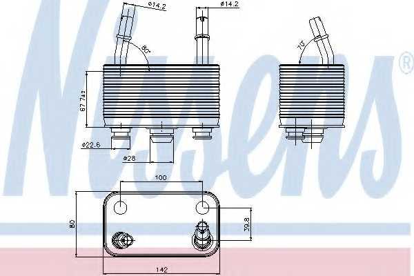 Масляный радиатор АКПП NISSENS 90678 - изображение