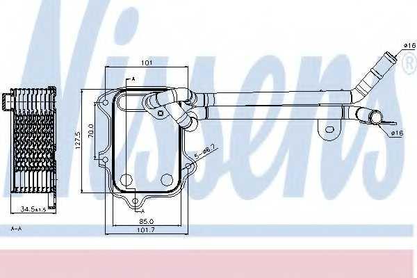 Масляный радиатор масла двигателя NISSENS 90679 - изображение