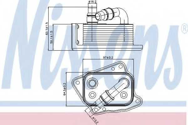 Масляный радиатор масла двигателя NISSENS 90688 - изображение