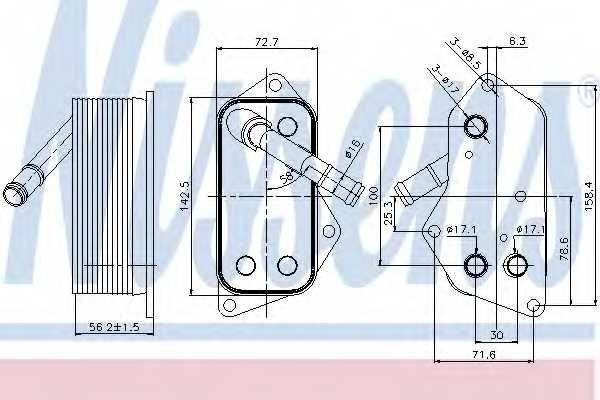 Масляный радиатор масла двигателя NISSENS 90689 - изображение