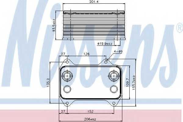 Масляный радиатор масла двигателя NISSENS 90690 - изображение