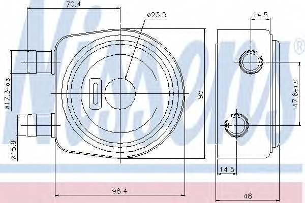 Масляный радиатор масла двигателя NISSENS 90697 - изображение