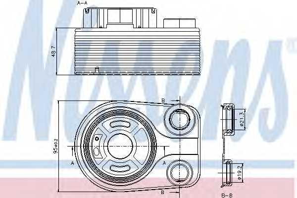 Масляный радиатор масла двигателя NISSENS 90705 - изображение