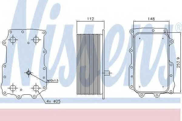 Масляный радиатор масла двигателя NISSENS 90726 - изображение
