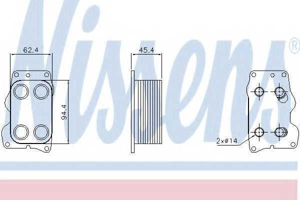 Масляный радиатор масла двигателя NISSENS 90740 - изображение