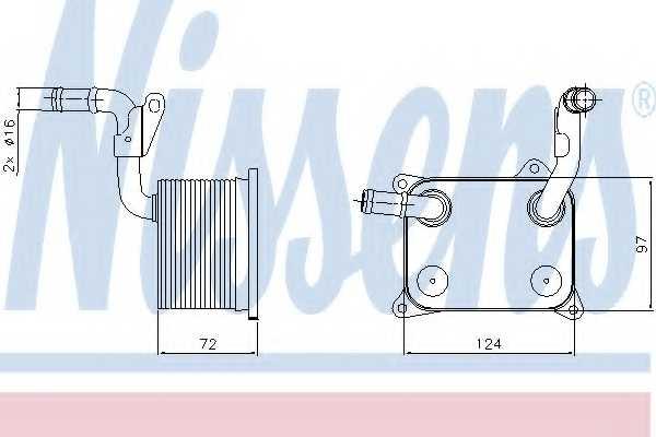 Масляный радиатор масла двигателя NISSENS 90744 - изображение