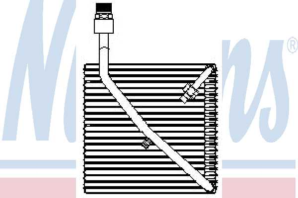 Испаритель кондиционера NISSENS 92081 - изображение