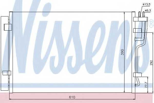 Конденсатор кондиционера NISSENS 940006 - изображение