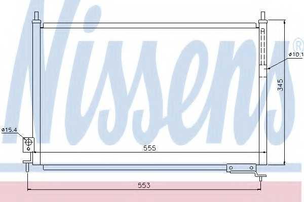 Конденсатор кондиционера NISSENS 940008 - изображение