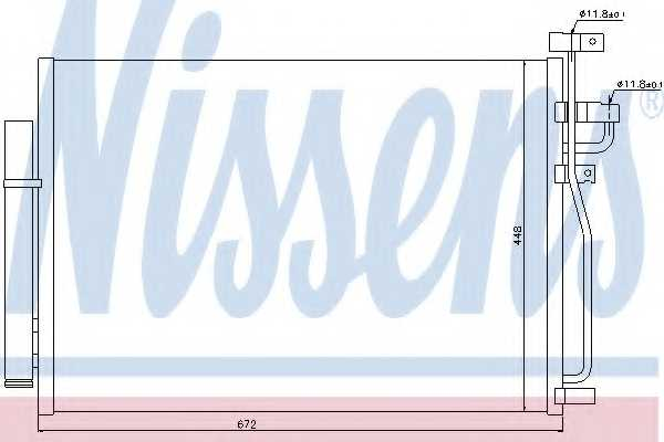 Конденсатор кондиционера NISSENS 940010 - изображение