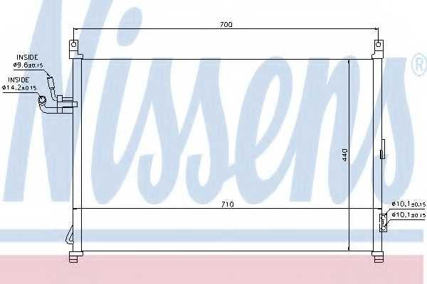 Конденсатор кондиционера NISSENS 940014 - изображение