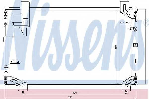 Конденсатор кондиционера NISSENS 940020 - изображение