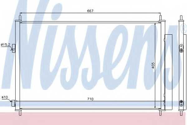 Конденсатор кондиционера NISSENS 940021 - изображение