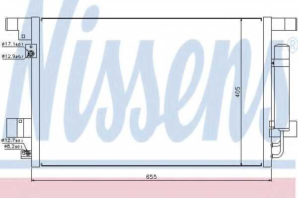Конденсатор кондиционера NISSENS 940029 - изображение