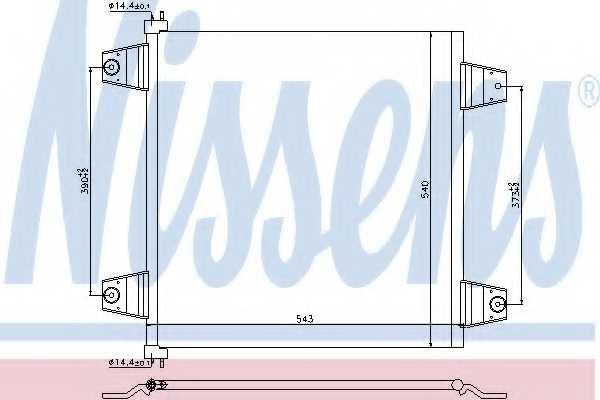 Конденсатор кондиционера NISSENS 940031 - изображение