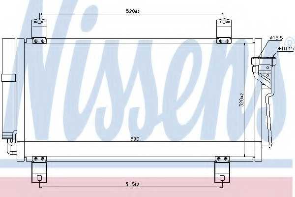 Конденсатор кондиционера NISSENS 940032 - изображение